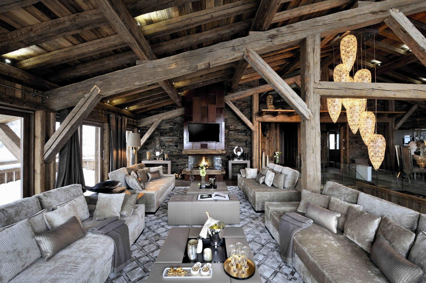 Chalet Brickell Megeve France | Lighting Project