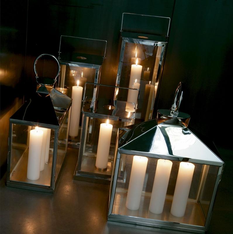 Lanterne da esterno e giardino in acciaio inox
